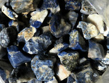 "1/2 lb SODALITE Rough Tumbling Rock from Brazil ""Stone for Artists"" FS"