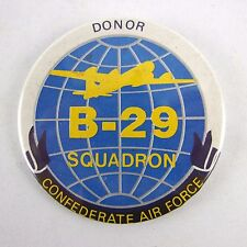 Vtg B-29 Squadron Confederate Air Force Donor Button Pin