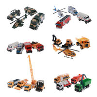 Diecast Truck Construction Military Ambulance Sanitation Vehicles Kids Toy Gifts