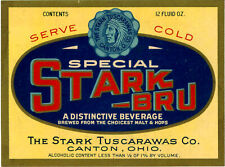 New listing Prohibition 12oz Stark-Tuscarawas Co. - Special Stark-Bru Bottle Label Canton Oh