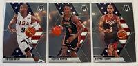 2019-20 Panini Mosaic USA Basketball Lot (3x)- Wade, Pippen, Curry- Fresh