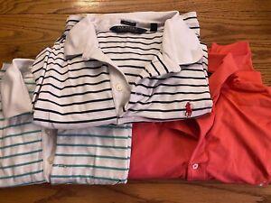Lot of 3 Men's Ralph Lauren Polo Golf Shirts, XL