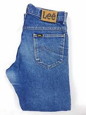 Vtg LEE Riders USA UNION MADE Mens Straight Leg Blue Jeans 32x29 (Tag 33x30)