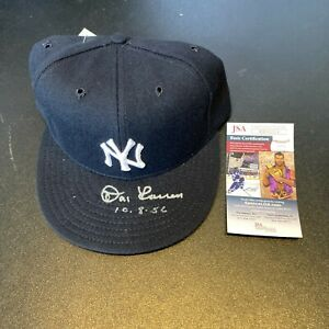 Don Larsen Perfect Game 10-8-1956 Signed New York Yankees Hat JSA COA