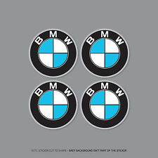 SKU2166 - 4 x BMW Alloy Wheel Centre Stickers Badges Car - 60mm