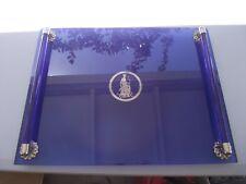 Vintage Art Deco Cobalt Blue Glass Vanity makeup perfume tray  Avon exclusive