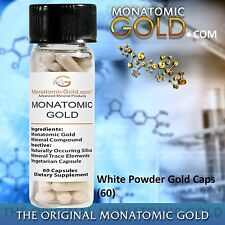MONATOMIC GOLD *ORMUS* WHITE POWDER GOLD* 300mg Caps MONOATOMIC GOLD Andara M-5