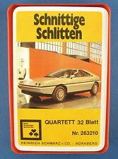 Quartett - Schnittige Schlitten - Nürnberger Nr. 263210 - Auto -Heinrich Schwarz
