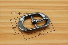Center Bar buckle belt buckle pin buckle 5/8 inch 15 mm gunmetal 6 pcs AC61