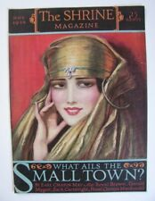 1926 ORIG W T BENDA THE SHRINE MAGAZINE COVER ARABIAN GODDESS GOLD & PEARLS