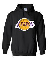 "BLACK Lebron James Los Angeles Lakers ""Logo""  HOODED SWEATSHIRT"
