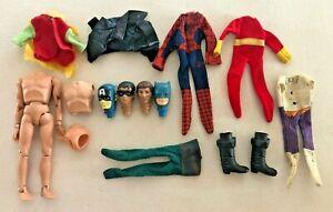 Vintage MEGO Parts Heads Clothes Boots Lot Type I Captain America Batman POTA +