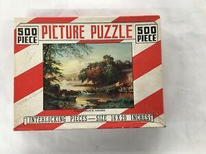 Saalfield Vintage Interlocking Picture Puzzle- 500 Pcs.