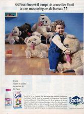 Publicité 1995  LACTEL EVEIL  lait de croissance  ...