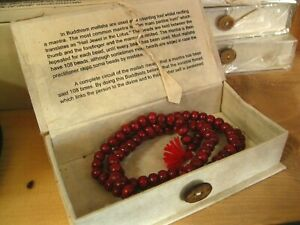 FAIRTRADE BOXED Mala PRAYER BEADS Necklace BUDDHIST ROSARY MEDITATION Malla Bead