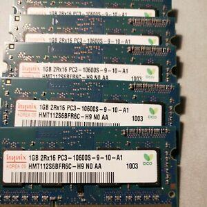 4x 1G, Hynix PC3-10600s DDR3 Laptop SODIMM RAM