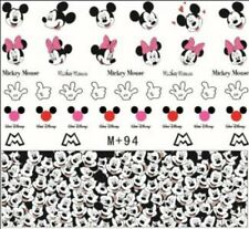 Nail Art Stickers Water Decals Transfers Mickey Minnie Mouse (M+94)