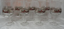Johnson Bros FRIENDLY VILLAGE Set of 8 Crystal 12 oz WATER GOBLET STEMS Glasses
