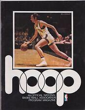 1976 Los Angeles Lakers Vs New York Knicks Official NBA Hoop Program B. Bradley