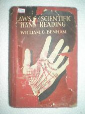 THE LAWS OF SCIENTIFIC HAND READING PALMISTRY RARE ANTIQUE BOOK 1949