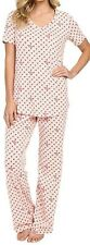 Vera Bradley Knit Pajamas Set in Blush Hearts Size XS (0-2)