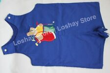 Boys 4T Austin & Ashley Shortall Romper Golf Bear Applique Blue 100% Cotton