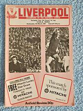 1980 - LIVERPOOL v CSKA SOFIA PROGRAMME - EUROPEAN CUP QTR FINAL 1ST LEG - 80/81