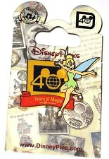 Retired Walt Disney World Pin✿Tink Tinker Bell 40 Years of Magic Anniversary 3D