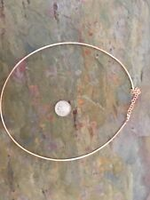 """14 KT Rose Gold Round Neck Wire Omega Collar Chain Necklace 16""""`18"""" NEW Light"""