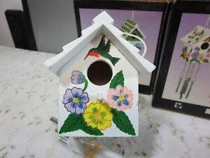 Wooden Ornamental Bird House Wind Chime