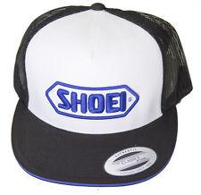 Cascos de motocicleta oficial Shoei Premium Trucker Cap Hat-blanco (logotipo en azul)