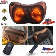 Lumbar & Back & Neck Massager Pillow Electronic Cushion with Kneading Heat USA