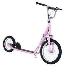"Adjustable Teen Kick Scooter Kids Ride On Stunt Street Bike 16"" Tire"