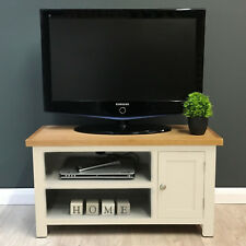 Cotswold Cream Painted Oak Small TV Unit / Solid Wood / Media / Assembled / New