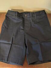 Lands End girls uniform chino shorts, navy blue, size 14, easy close waist, new