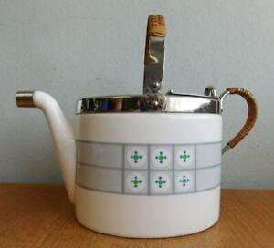 Rare WMF Germany Secessionist Art Deco Ceramic Teapot c1910