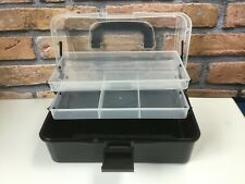 SMALL FLADEN BLACK  2 TRAY CANTILEVER TACKLE BOX FISHING ACCESSORY