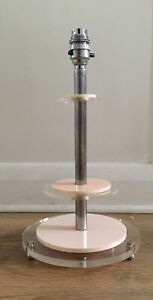 Unusual Vintage Art Deco Metal & Lucite Table Lamp (Needs Wiring)