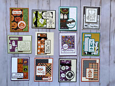 12 Halloween geeting cards envelopes Stampin' Up! +more