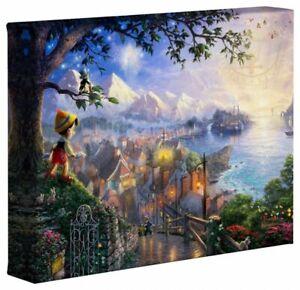 Thomas Kinkade Pinocchio Wishes Upon A Star 8 x 10 Canvas Wrap