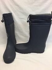 NWT LANDS END Women's Lined Rain Boots - Dark Blue Size 9
