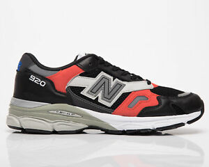 New Balance 920 Made In UK Men's Black Red Grey Casual Lifestyle Sneakers Shoes