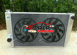 5 ROW RADIATOR+Fans For Ford Falcon V8 6cyl XC XD XE XF FAIRLANE ZH/ZJ/ZK/ZL AT