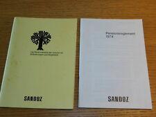 1974 pensionsreglement REGLEMENT pensionsKASSE retraite SANDOZ AG suisse BASEL