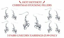 WHOLESALE ❤UNICORN ❤  CHRISTMAS GIFT GIRL EARRINGS WITH CARD ❤ Made in UK