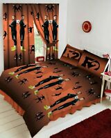 F2 Freestylers Rascal Football Orange And Black Double Duvet Cover Bedding Set