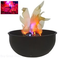 Cauldron Fake Fire Flame Black Bowl Decoration Battery Operated Quiet Witch