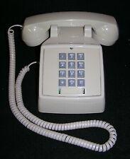 Vintage Retro Desk Push Button Phone Telephone - Cream / Ivory Color - Excellent