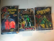 Marvel Comics Lot of 3 Action Figures - Human Torch, Dr. Doom, Vulture