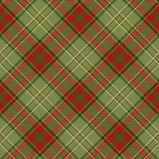 Henry Glass Moose Lodge 6616 66 Green Diagonal Plaid  BTY COTTON
